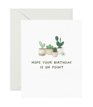 Amy Zhang On Point Birthday Card