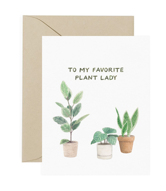 Amy Zhang Plant Lady Card