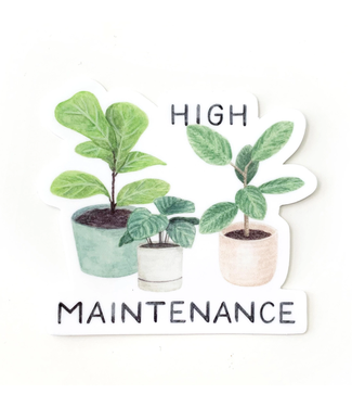 Amy Zhang High Maintenance Plant Sticker