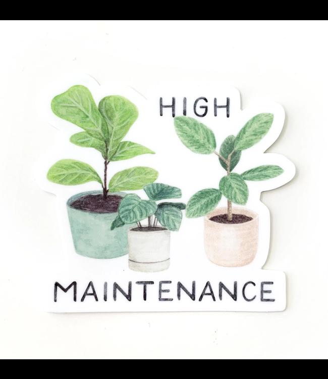 Amy Zhang High Maintenance Plant Sticker