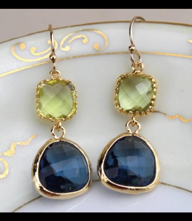 Laalee Jewelry Peridot Green Earrings
