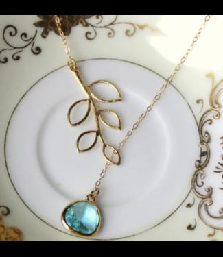 Laalee Jewelry Aquamarine Lariat Necklace