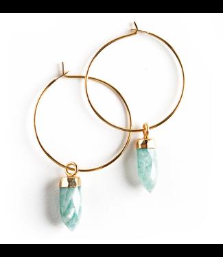 Lenny & Eva Amazonite Stone Point Earrings