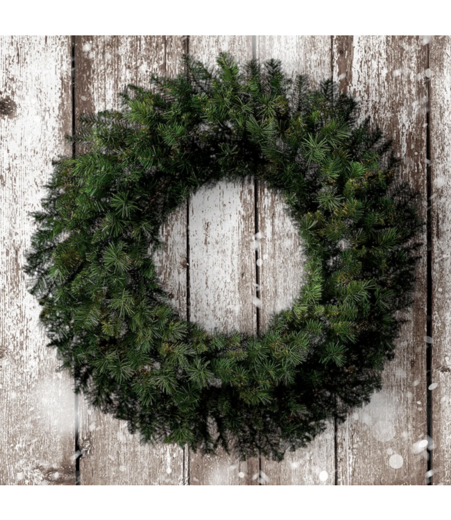 """36"""" New Zealand Pine Wreath with 330 Tips"""