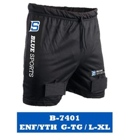 BLUE SPORTS MESH SHORT WITH PROTECTIVE SHELL