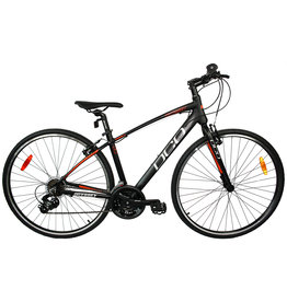 DCO ODYSSEY Mat BLACK Orange hybrid bike
