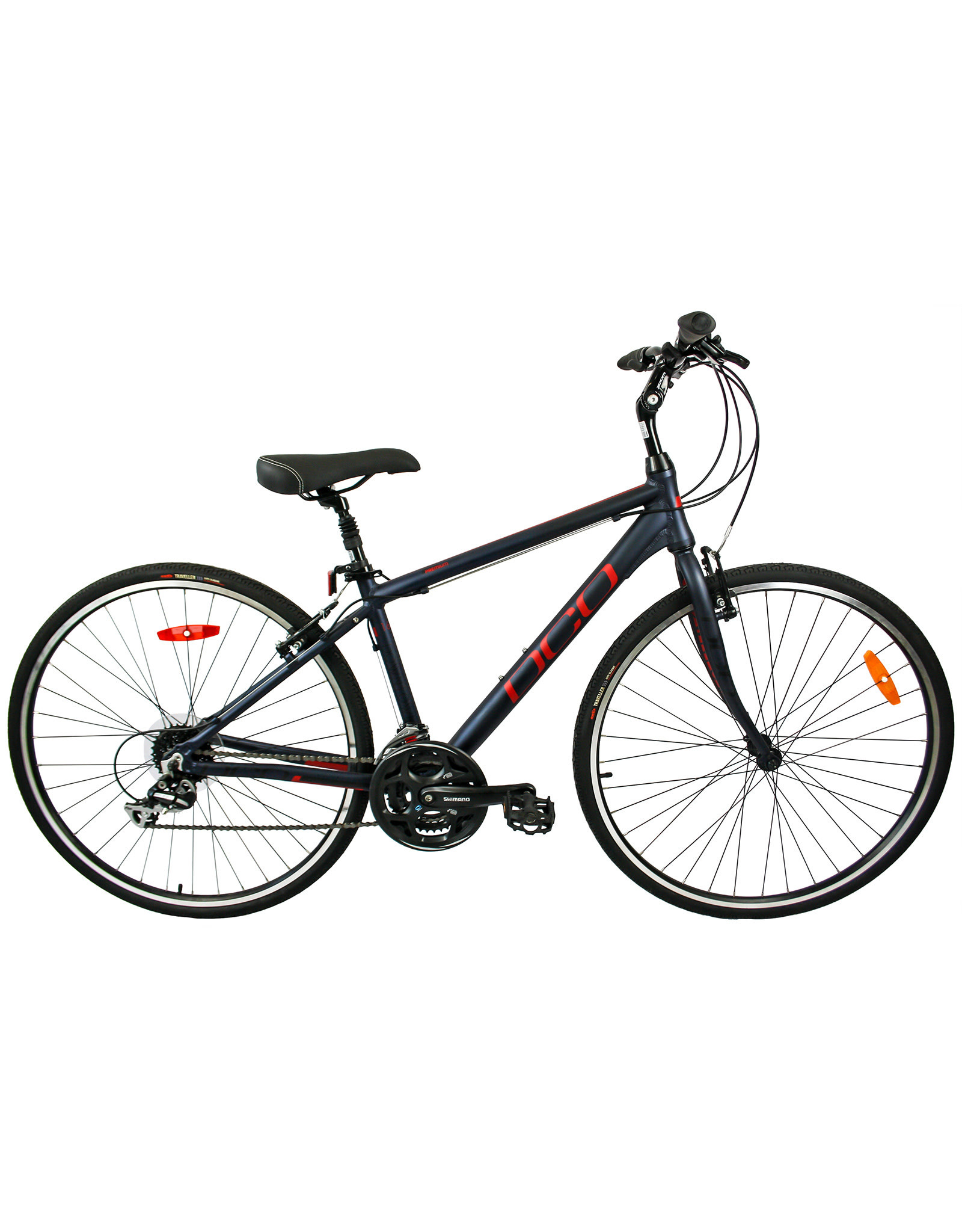 DCO DCO DOWNTOWN 702 Indigo Rouge Mat vélo hybride pour adulte