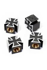 Iron Cross Valve Caps-Black