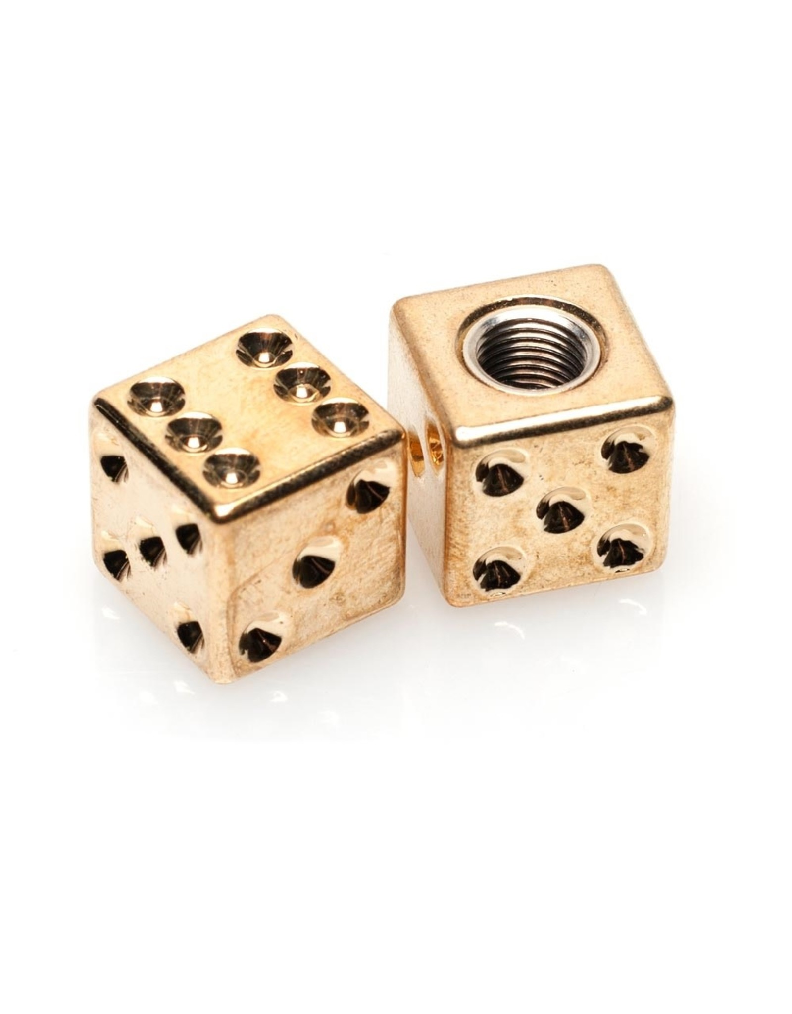 Lucky Dice Valve Caps-Gold