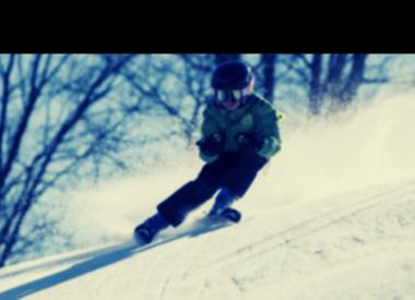 Used alpine skis