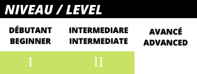 Beginer to intermediate skier level