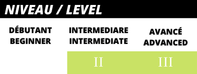 Intermediate to advanced skier level