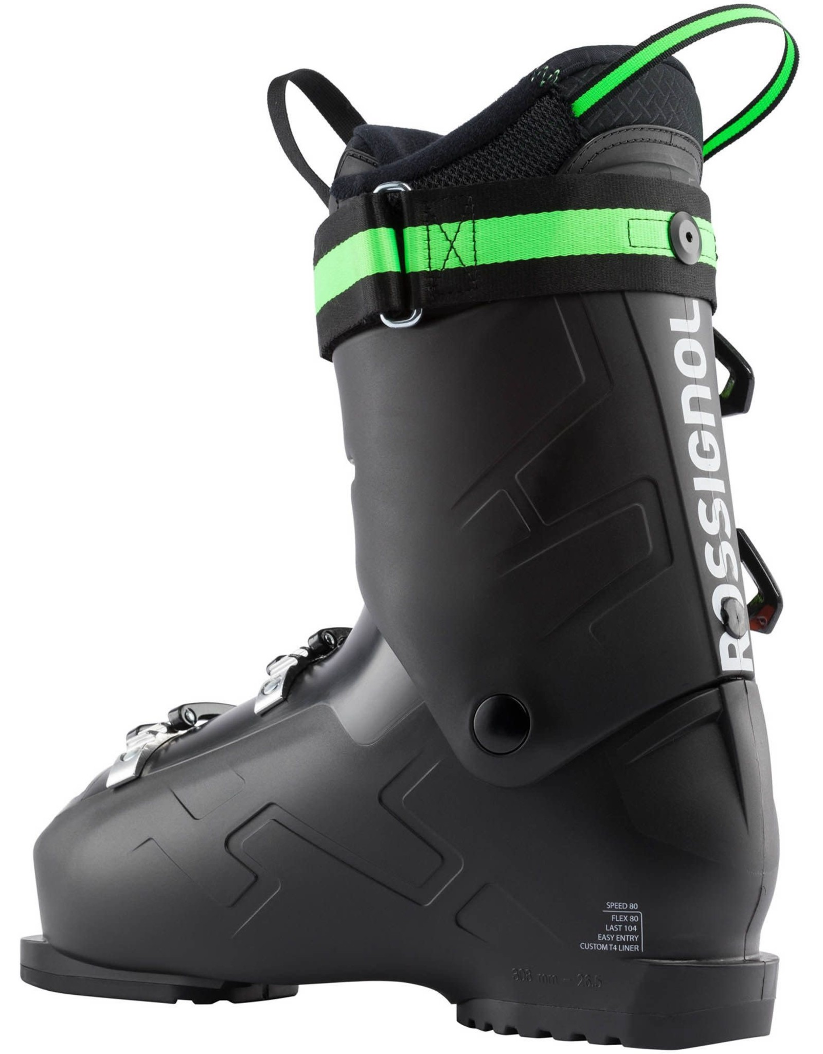ROSSIGNOL ROSSIGNOL SPEED 80 BLACK MEN ALPINE SKI BOOT SR 20