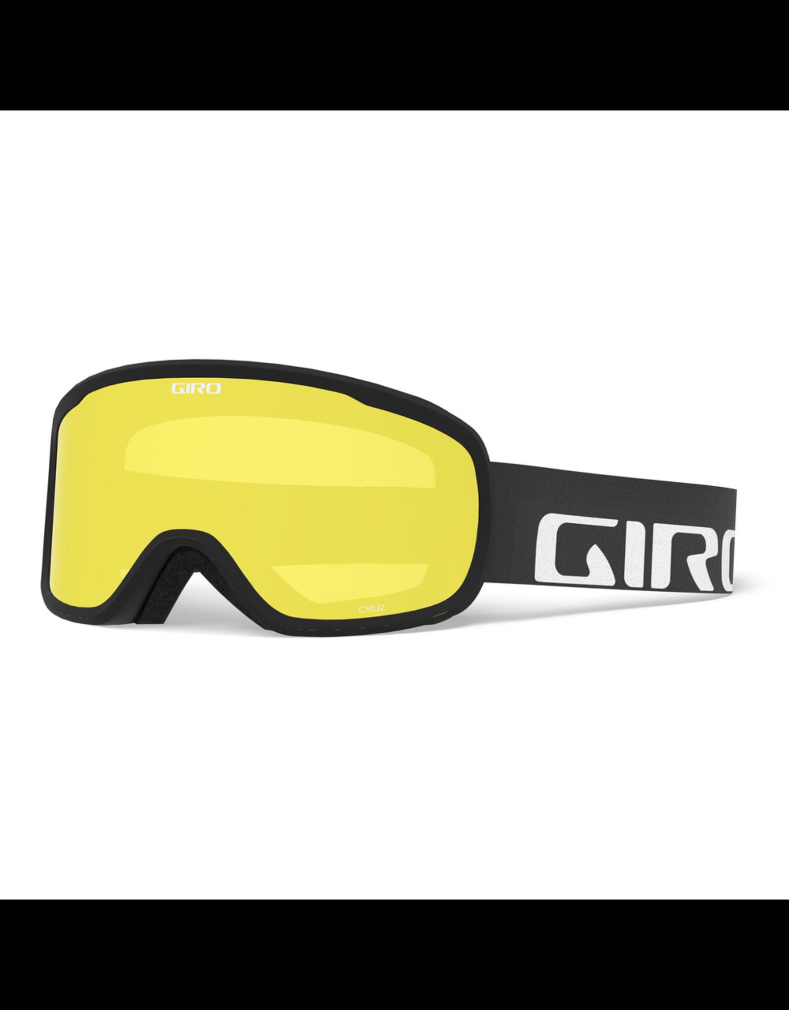 GIRO CRUZ BLACK WDMRK YEL BST SR 20 SKI GOGGLE