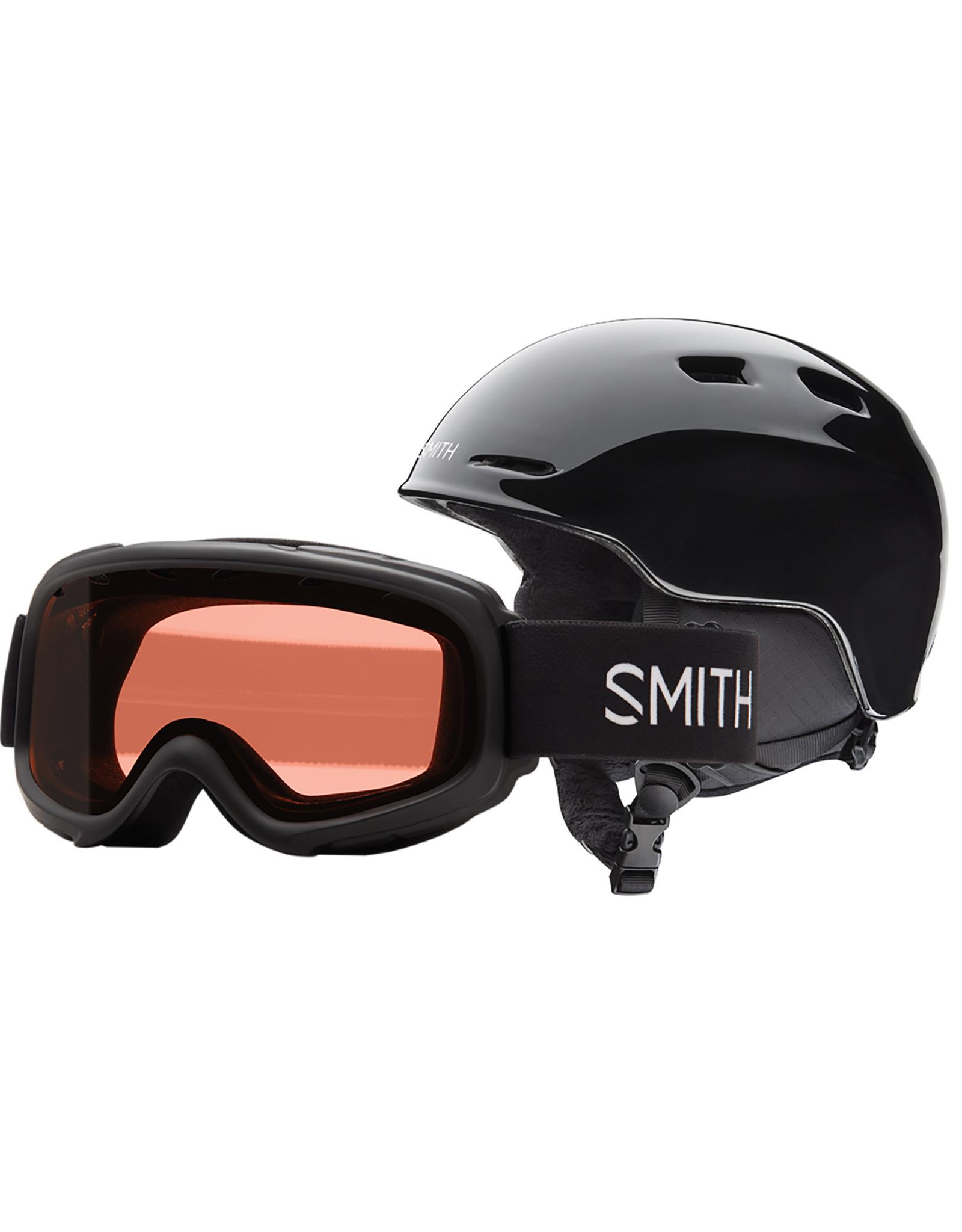 Smith SMITH ZOOM JR GAMBLER COMBO BLACK 20 LUNETTE & CASQUE