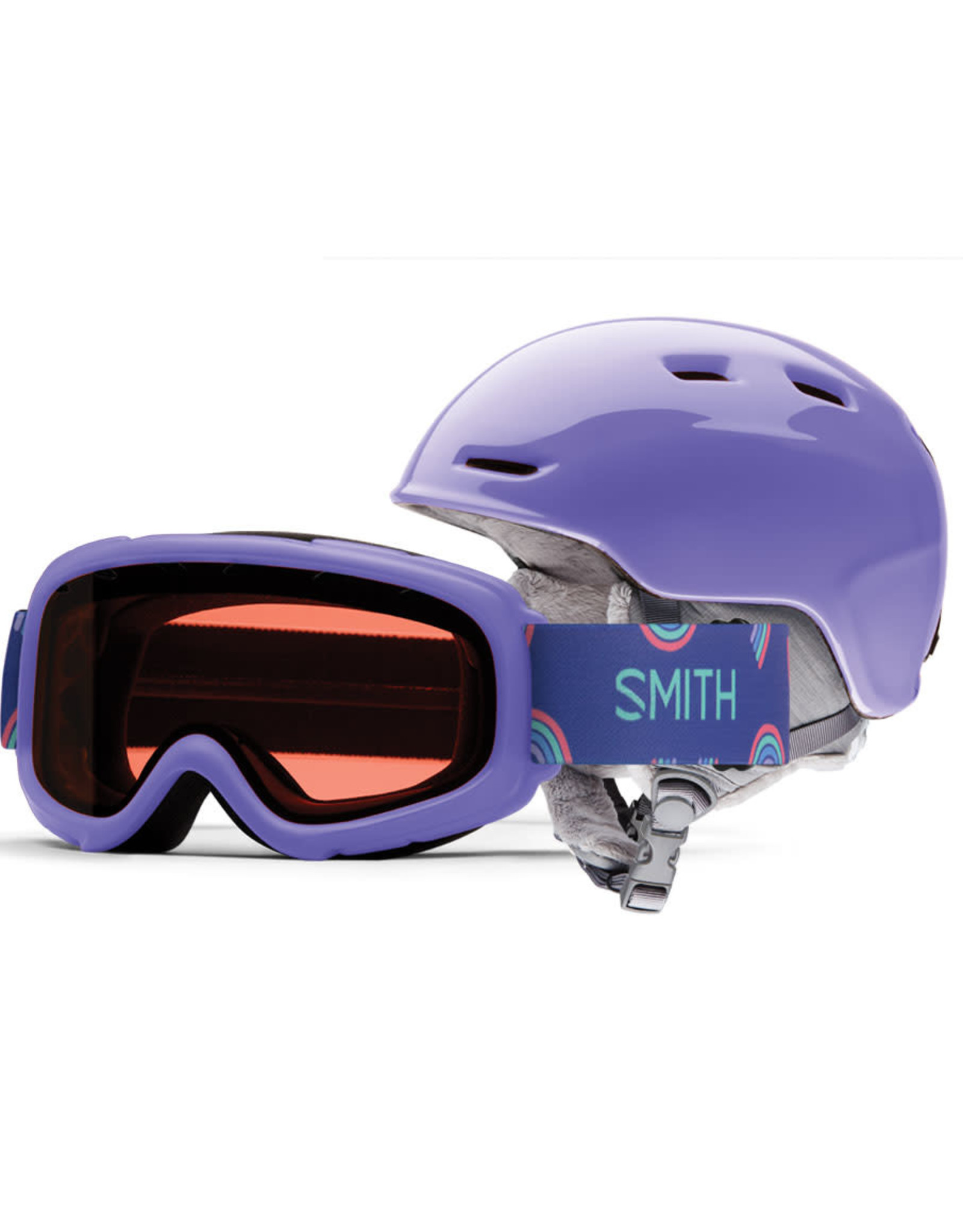 Smith SMITH ZOOM JR GAMBLER COMBO THISTLE 20 GOGGLE & HELMET