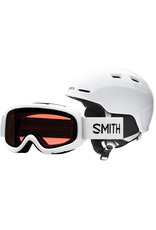 Smith SMITH ZOOM JR GAMBLER COMBO WHITE 20 GOGGLE & HELMET