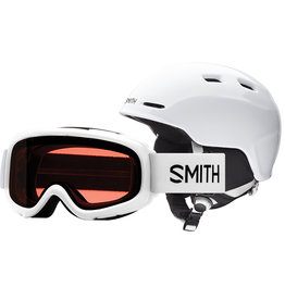 Smith SMITH ZOOM JR GAMBLER COMBO WHITE 20 LUNETTE & CASQUE