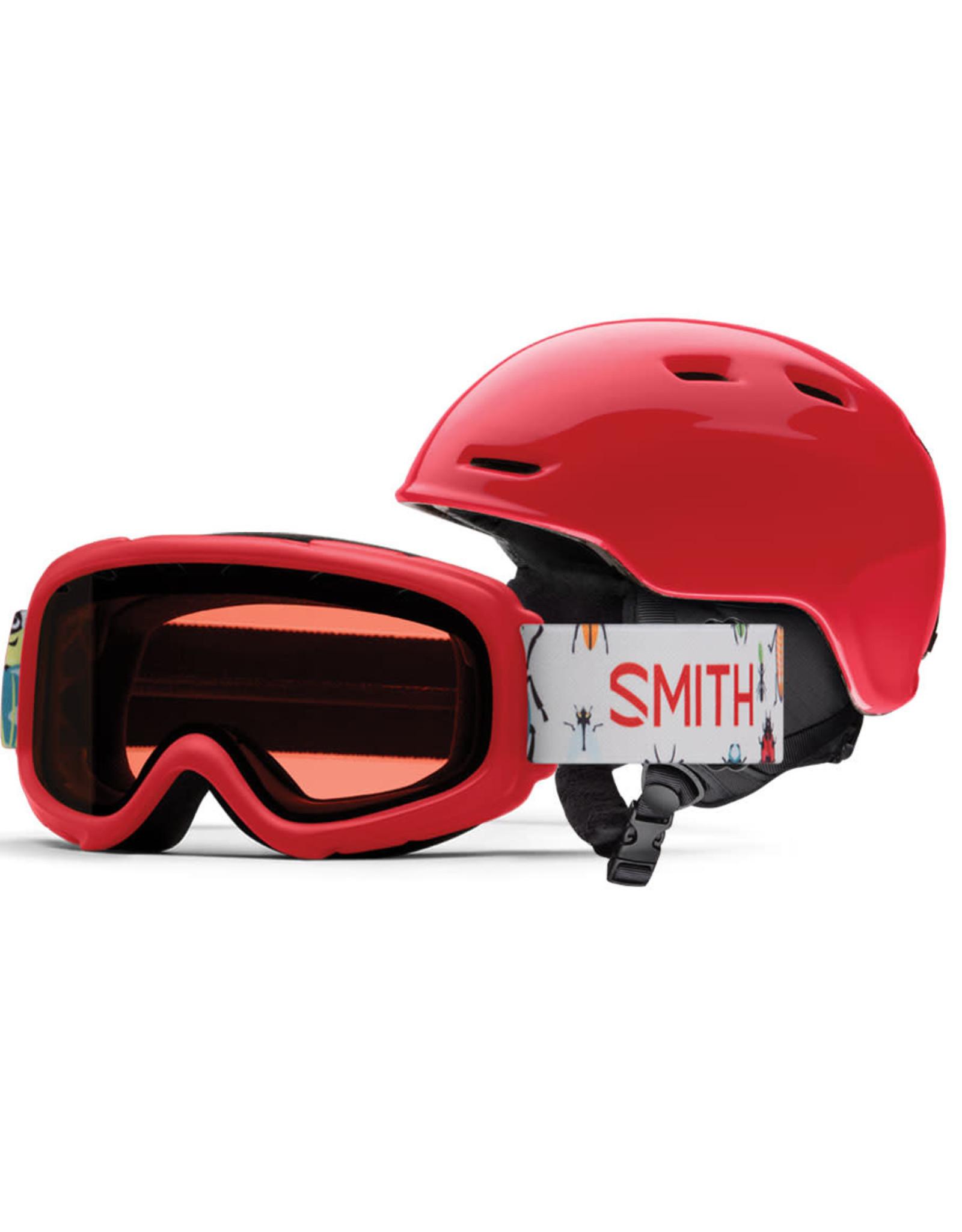 Smith SMITH ZOOM JR RASCAL COMBO LAVA 20 GOGGLE & HELMET