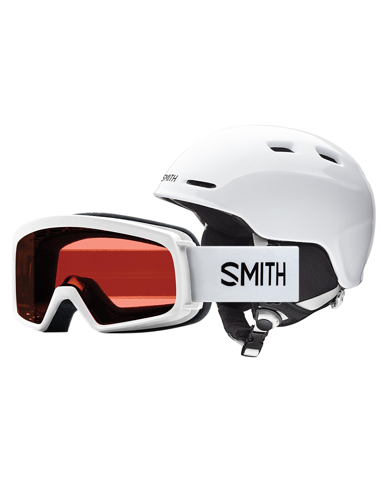 Smith SMITH ZOOM JR RASCAL COMBO WHITE 20 LUNETTE & CASQUE