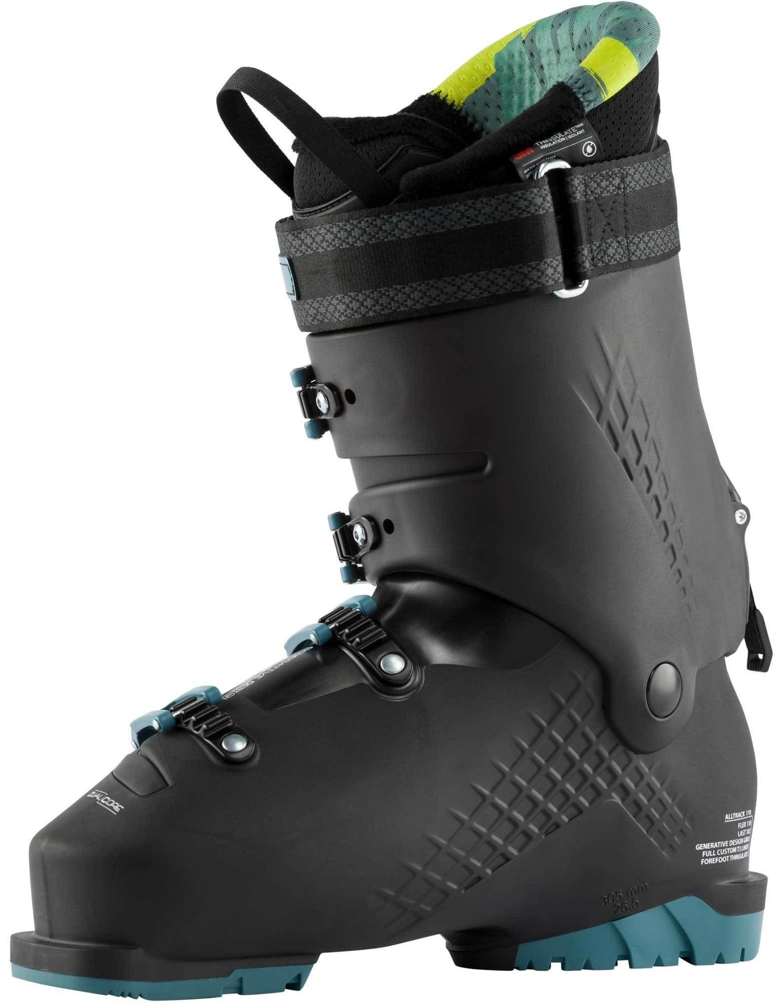 ROSSIGNOL ROSSIGNOL ALLTRACK 110 BLACK/STEEL BLUE ALPINE SKI  BOOT MEN 20