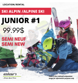 JUNIOR 1 ALPINE SKI EQUIPEMENT RENTAL  SEMI-USED
