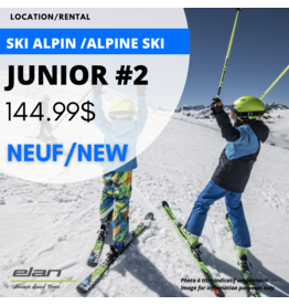 ALPINE SKI EQUIPMENT RENTAL JUNIOR 2 - NEW