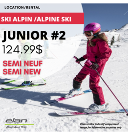 ALPINE SKI EQUIPEMENT RENTAL JR 2 (semi new)