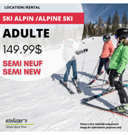ADULT ALPINE SKI EQUIPMENT RENTAL -  SEMI-USED