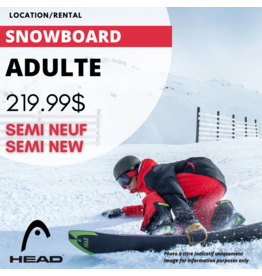 ADULT SNOWBOARD EQUIPMENT RENTAL - SEMI USED