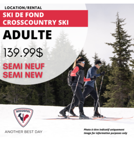 ADULT CROSSCOUNTRY SKI EQUIPMENT  SEMI-USED