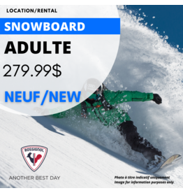 ADULT SNOWBOARD EQUIPMENT RENTAL - NEW