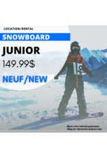 JUNIOR SNOWBOARD EQUIPMENT RENTAL - NEW
