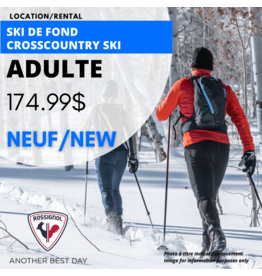ADULT CROSSCOUNTRY SKI EQUIPMENT RENTAL (season)
