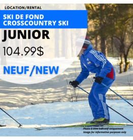 JUNIOR CROSSCOUNTRY SKI EQUIPMENT RENTAL - NEW