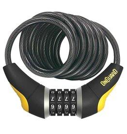 OnGuard, Doberman 8031, Cable spirale avec serrure a combinaison, 12mm x 185cm (12mm x 6')
