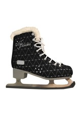Softmax 826 women ice skate black with fur lining
