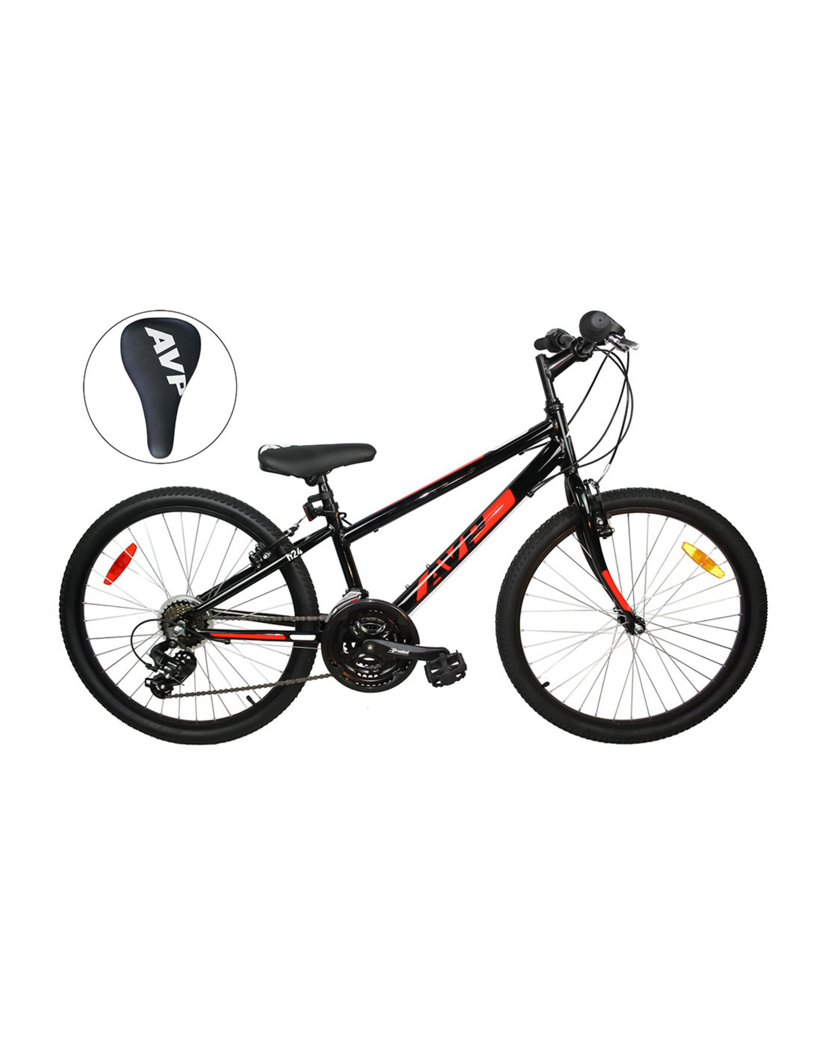 AVP H24 HYBRID BIKE BLK-RED 24 JR 21