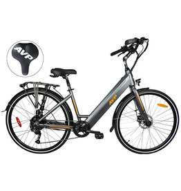 AVP AVP E- LOW STEP CHARCOAL MA/ORANGE MAT EBIKE