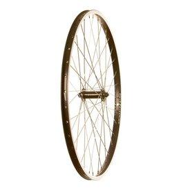 Wheel Shop Front wheel axle DM18 / Shimano Tourney HB-TX500 Noir/Inox Argent 26''/559