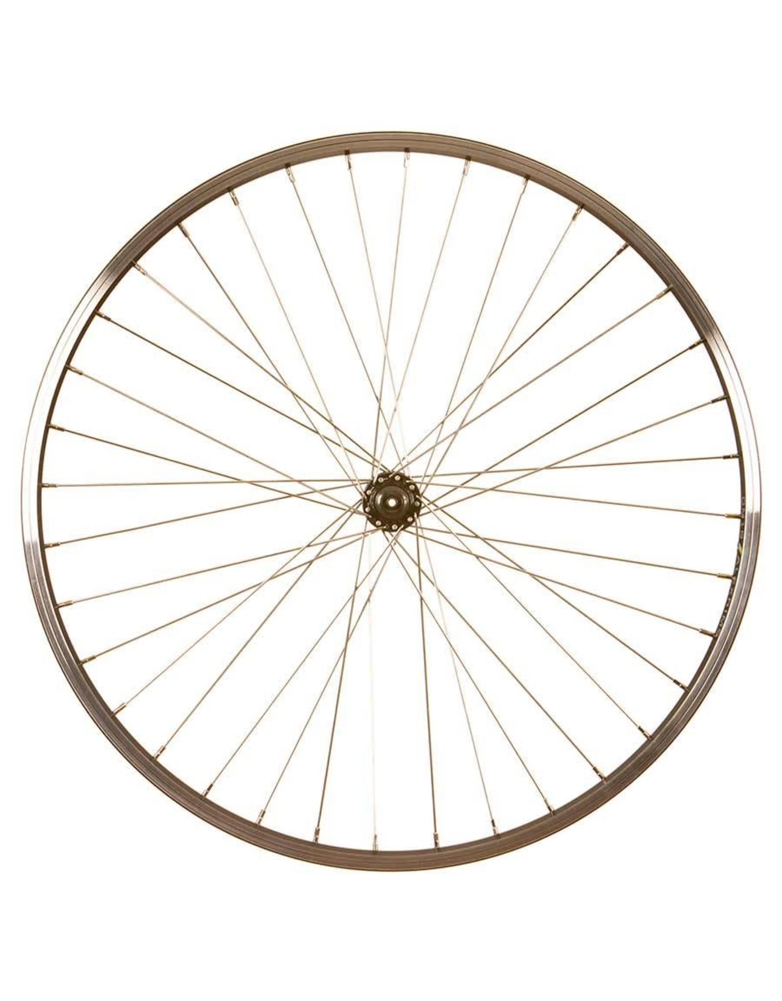 Wheel Shop Roue Avant Alex DM18 / Shimano Tourney HB-TX500 Noir/Inox Argent 26''/559