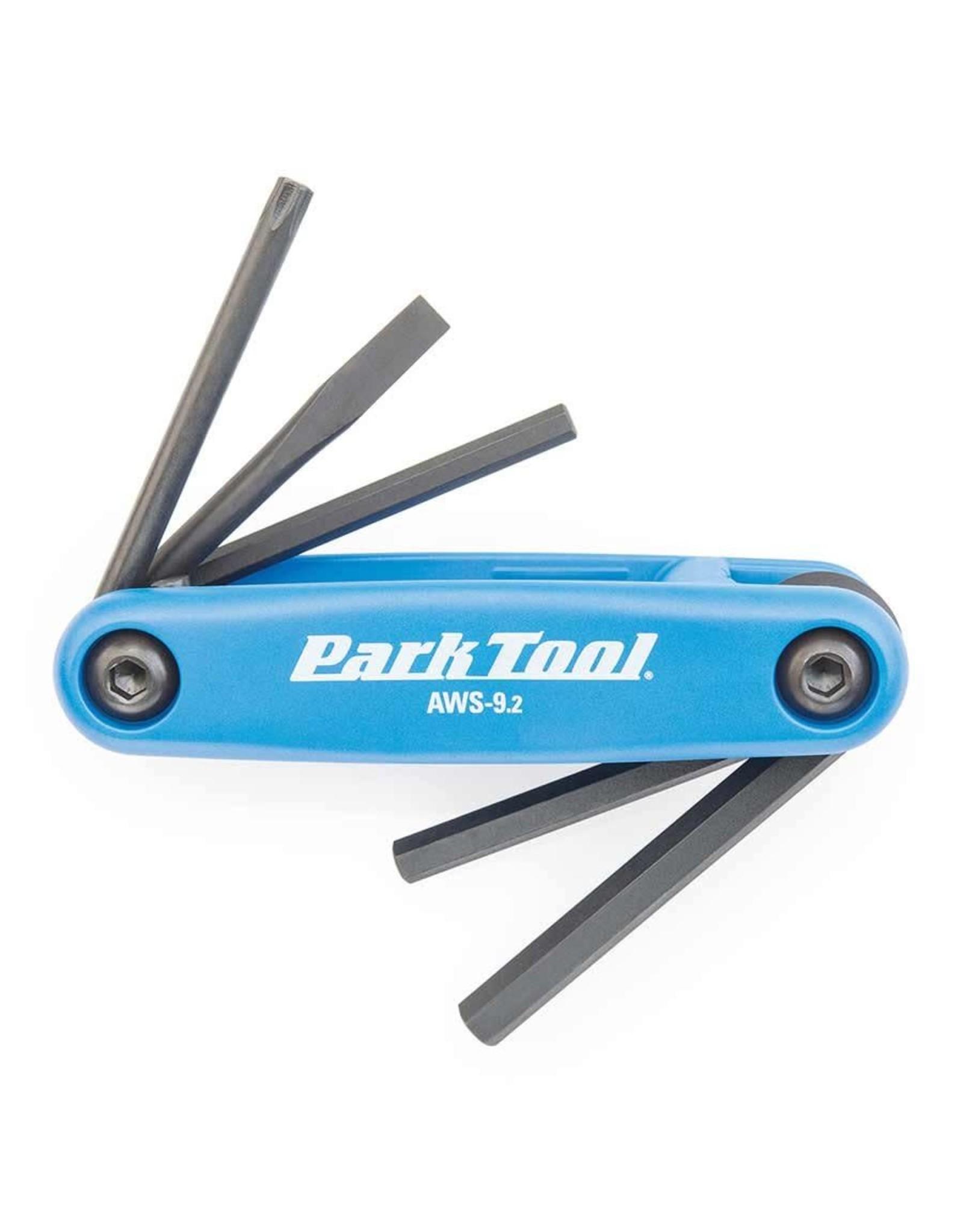 Park Tool Tournevis et clés hexagonales repliables AWS-9.2 4mm/5mm/6mm/plat et T25