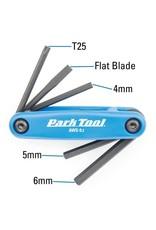 Park Tool kit screwdrivers and hexagonal retractable keys AWS-9.2 4mm/5mm/6mm/flat & T2