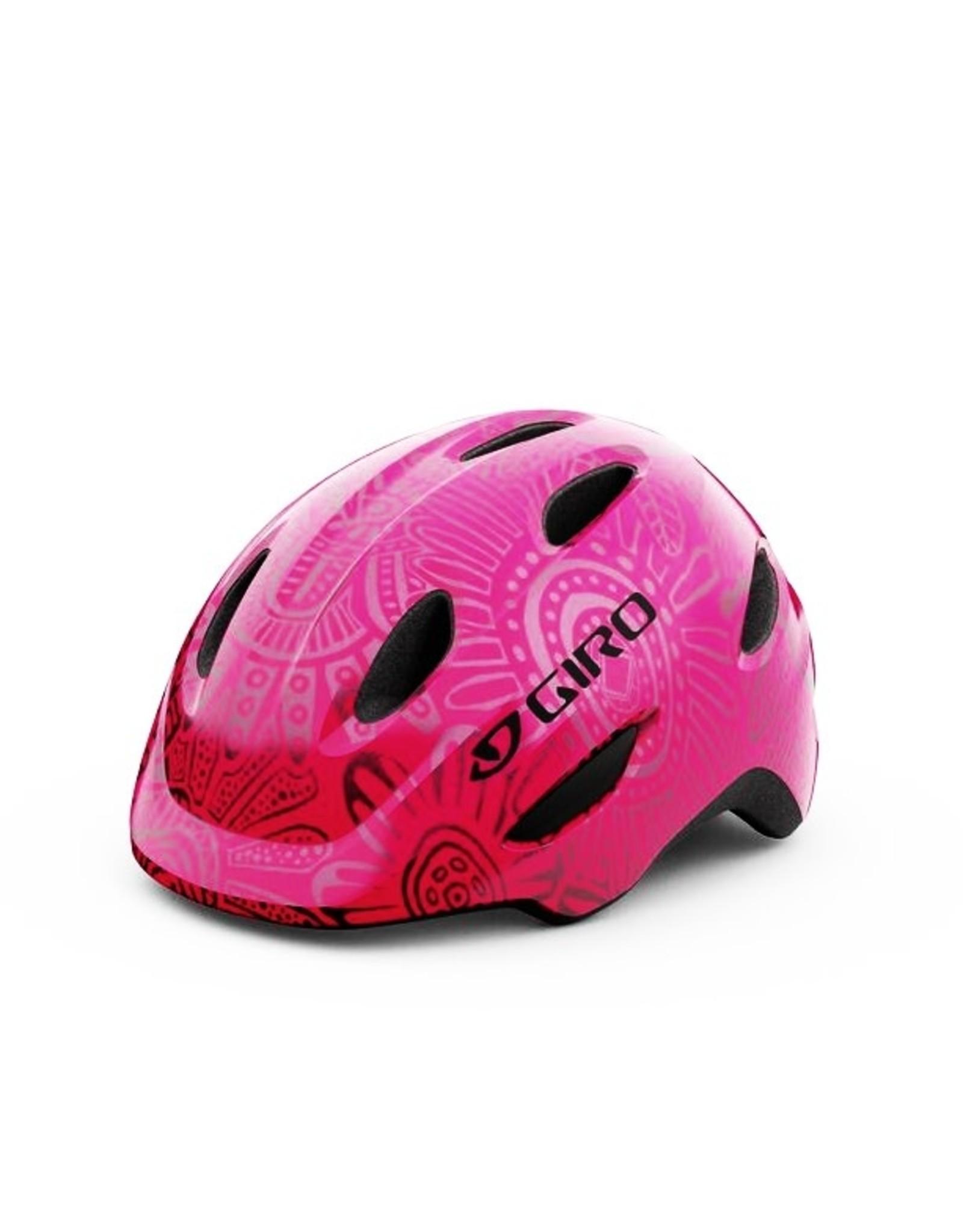 Giro GIRO SCAMP BRIGHT PINK/PEARL YOUTH BIKE HELMET