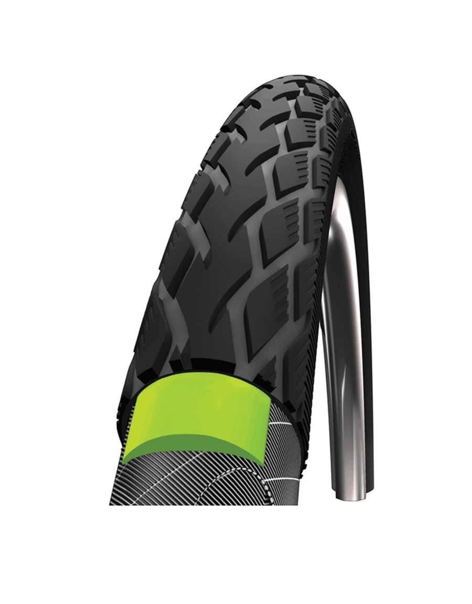 Schwalbe, Marathon, tire, 700x35C, Rigid, Tringle, Endurance, Green Guard, 67TPI, black