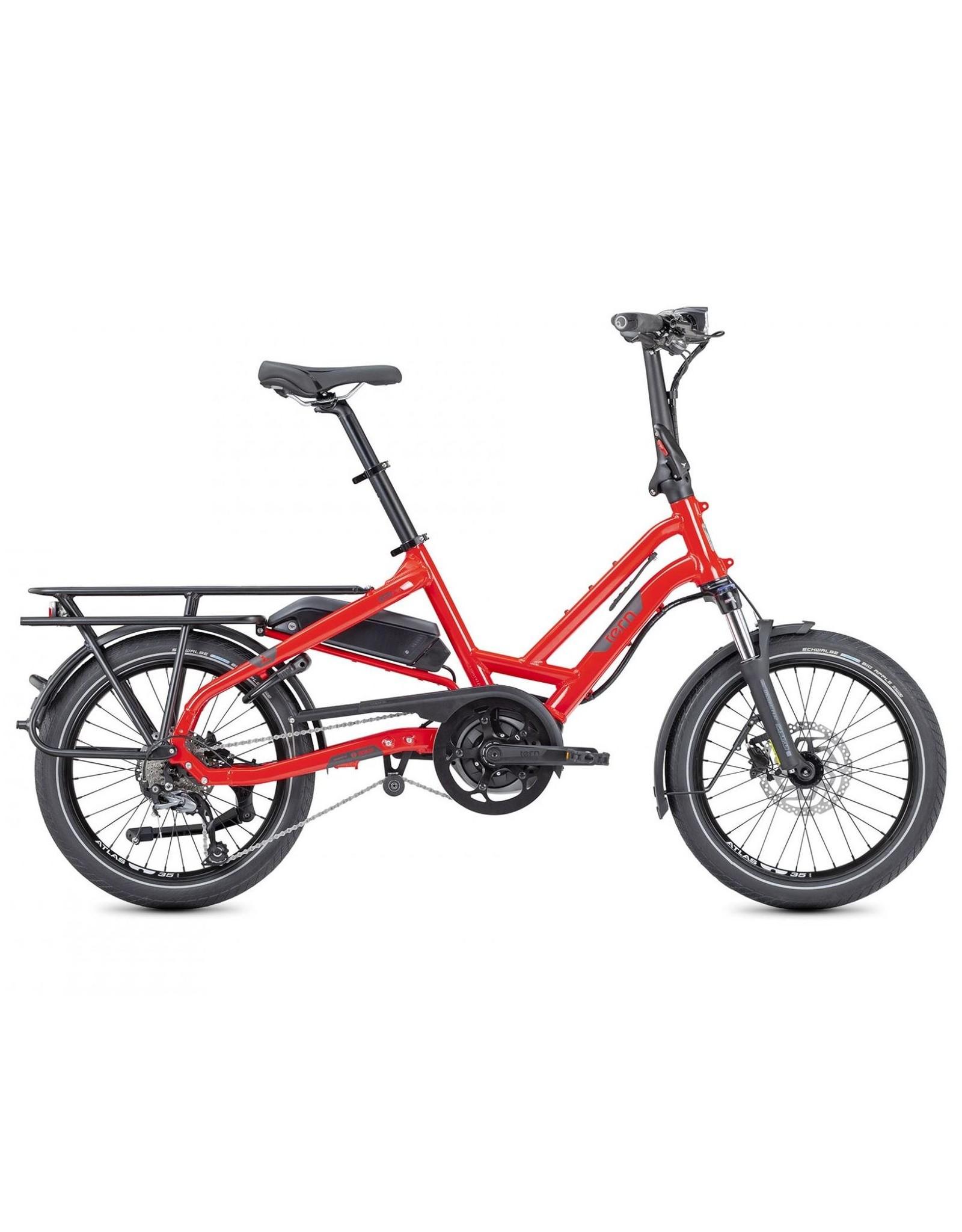 TERN TERN HSD P9 RED foldable electric assist cargo bike