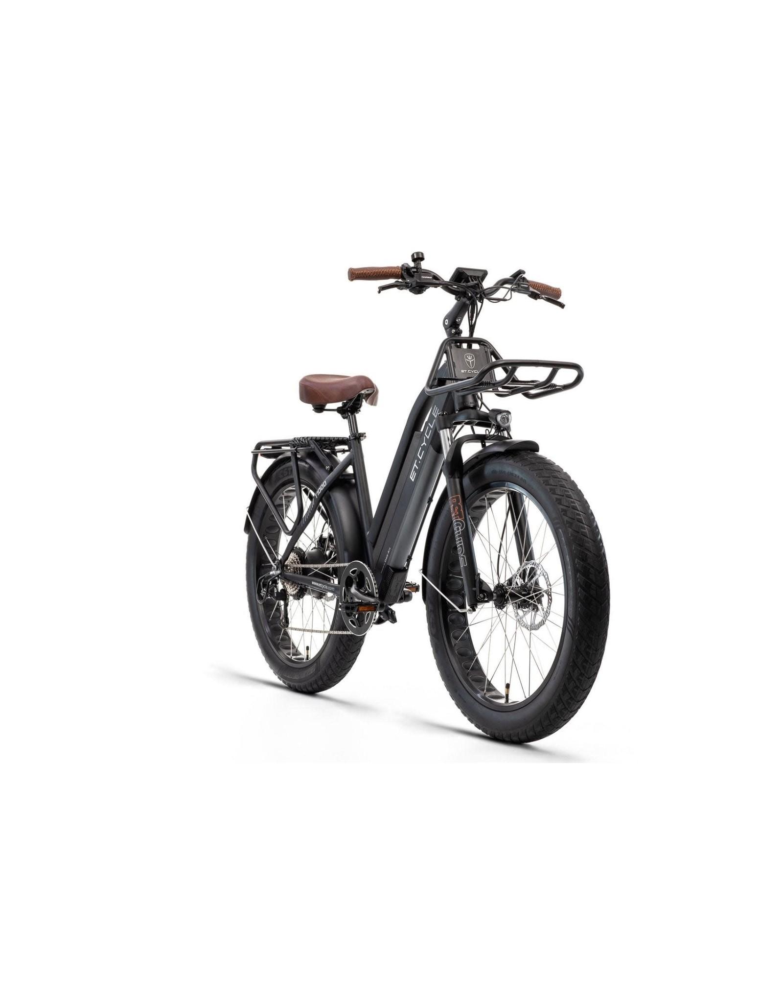 LEON CYCLE ET.Cycle T1000 Electric Fat Bike Black 46cm
