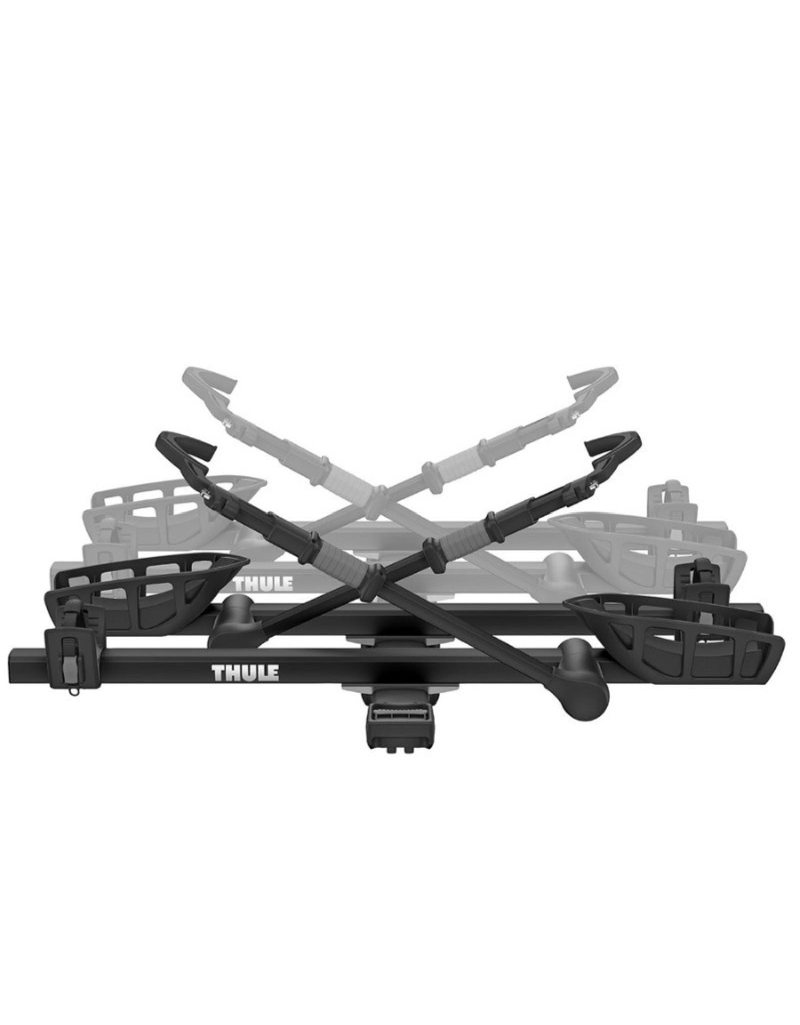 "Thule THULE T2 PRO XT BLACK 2 ""hitch mounted bike rack add-on for 2 BIKES"