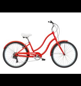 Tuesday MARCH 7 LS 16 POPPY RED Vélo rétro 7 vitesses