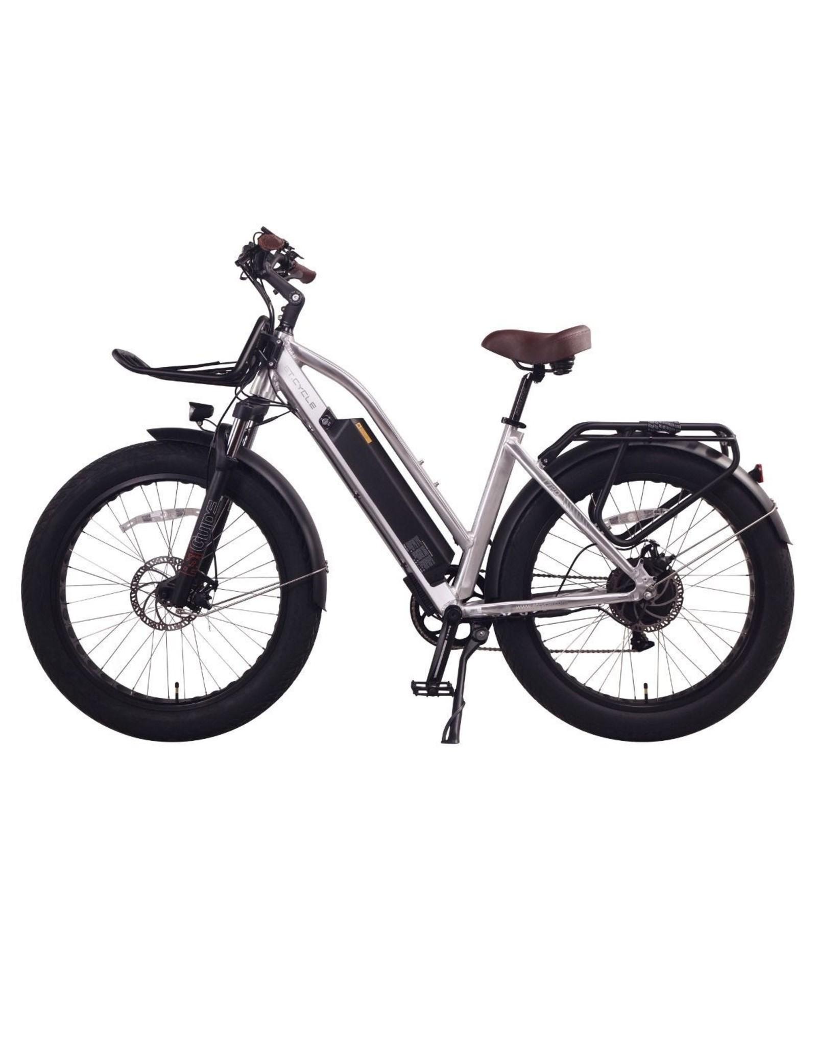 LEON CYCLE ET.Cycle T720 Fat Bike électrique Silver 46CM